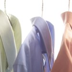 Dress shirts are typically made of cotton.