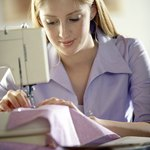 Use the sewing machine to sew the final seam.