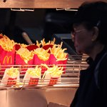 McDonald's french fries under heat lamps