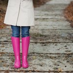 Wear rain boots in the fall, not in the winter.