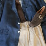 Rumpled linen provides a great summer version, but opt for heavy flannel or cashmere come winter.