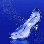 Cinderella's glass slippers can be made at home or bought from a store.