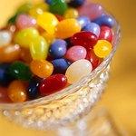 Custard cups can work on a cheap wedding candy buffet.