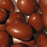 Fifty-five chocolate-covered hazelnuts