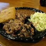 Barbecue pork and sides