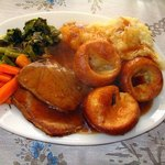 Yorkshire Pudding breads smothered in gravy