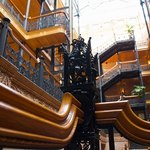 Interior of the Bradbury Building of Los Angeles.