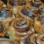 Offer tasty baked treats such as cinnamon rolls.