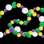Beads in Mardi Gras colors