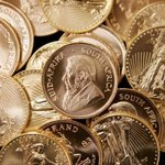 American Eagle and South African Krugerrands gold coins