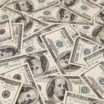 Pile of 100 dollar American bills.