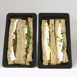 Packaged sandwiches.