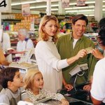 Households that receive food stamps can use an EBT card to purchase food.