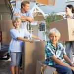 Family loads truck