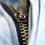 Zipper on jeans
