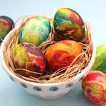 These tie-dye Easter eggs will be a huge hit.