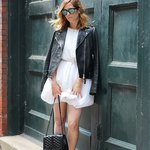 White Summer Dress Edgy Look
