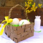 This adorable basket could double as Easter decor.