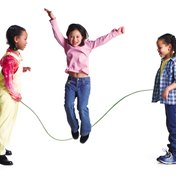 Kids can improve muscle tone and cardiovascular fitness by jump roping.