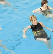 Water aerobics provides a cardiovascular and strength-training workout.