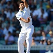 A spin bowler uses a variety of spins to dismiss a batsman.