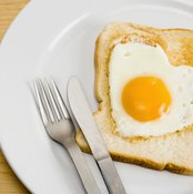 Eggs and toast are good post-workout foods.