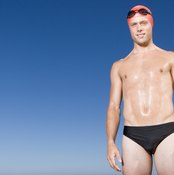 Each of the four major swimming strokes tones and relies on the chest and shoulder muscles.