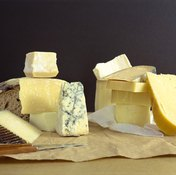 Cheeses and other dairy products are high in protein.
