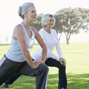Static lunges develop your quadriceps muscles.