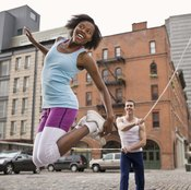 Jump rope games are a good way to exercise and play at the same time.