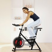 Riding a stationary bike gives you a good thigh workout.