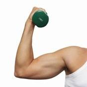 Use a dumbbell to help build your triceps.