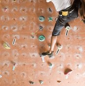 Like rock climbing, pegboard workouts develop your back and upper body.