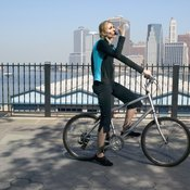 Follow safety rules when bicycling in urban areas.