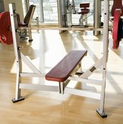 The barbell press on a flat bench is the most popular version of this exercise.