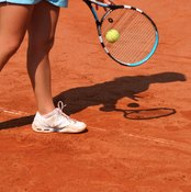 Synthetic clay courts resemble natural clay.