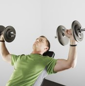 Incline dumbbell flies target the upper chest muscles.