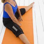 The straddle primarily stretches your inner thigh muscles.