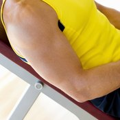 The butterfly exercise tones the chest muscles.