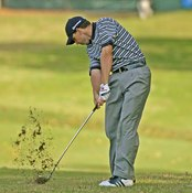 Hitting from the mud isn't easy, even for pros such as Sergio Garcia.