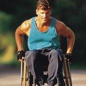 Wheelchair athletes do intense upper-body workouts.
