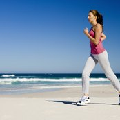 Running helps you burn calories to lose fat throughout your body.