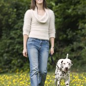 A dog can help you stick to your walking routine.