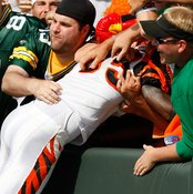 Many felt that Cincinnati's Chad Ochocinco crossed the line when he did the Lambeau Leap after scoring at Green Bay in 2009.