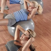 Add a twist to your stability ball crunch for external oblique training.