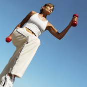 Adding weights to your walking routine increases the intensity of your workout.