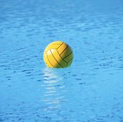 Pool volleyball can be played in both large and small swimming pools.