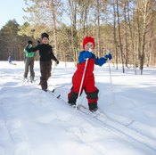 Skiing reduces anxiety and helps boost your mood.