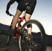 Fat tires perform better than narrow tires in loose material.