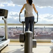 The elliptical trainer helps burn calories and strengthen your muscles.